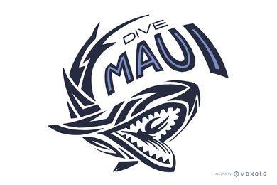 Logotipo de buceo Maui