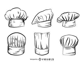 Conjunto de sombrero de chef