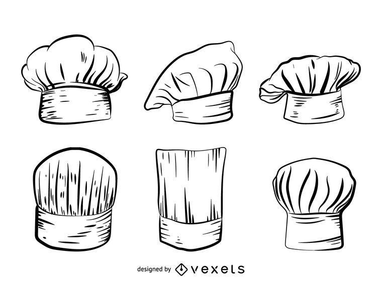 Conjunto de chapéu de chef