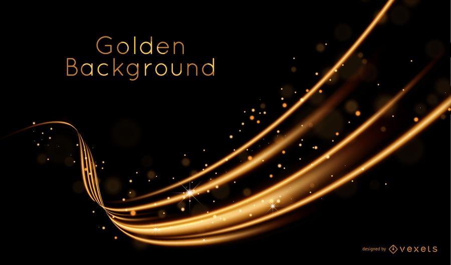Goldene Welle Hintergrund