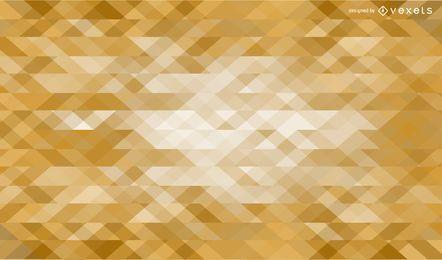 Fondo de triángulos de oro