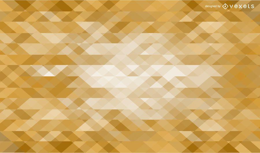 Fundo de triângulos dourados