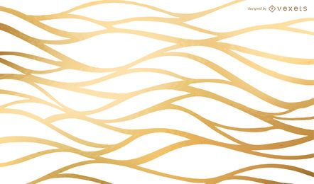 Golden wavy net background