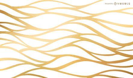 Goldener wellenförmiger Nettohintergrund