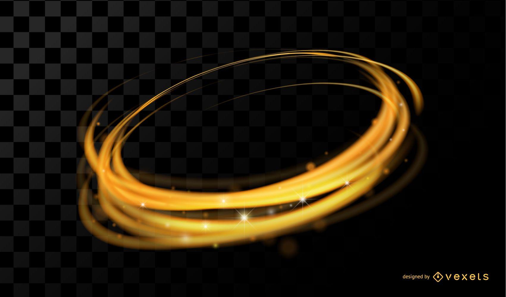 Goldener Ringhintergrund