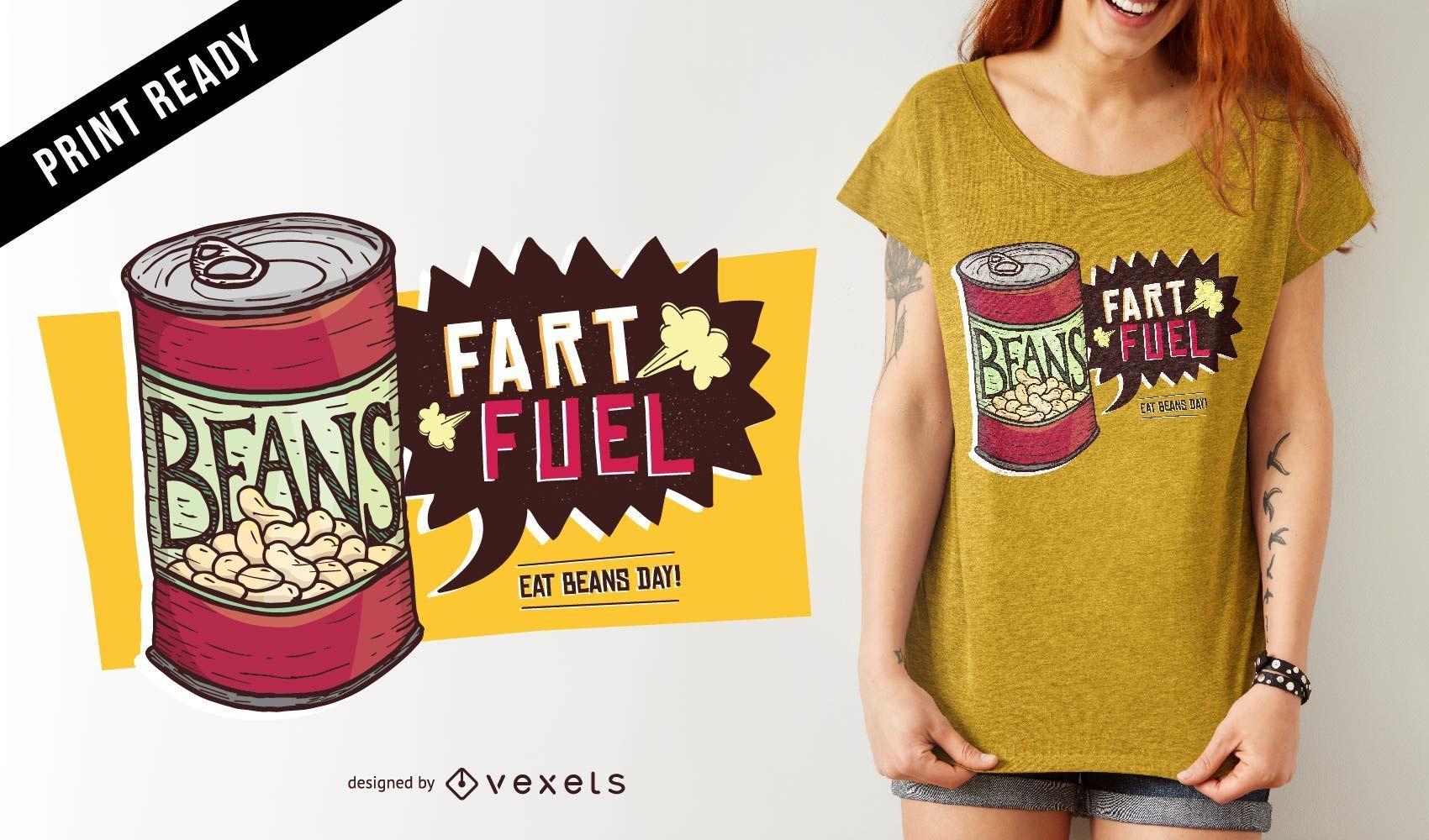 Diseño de camiseta de pedo combustible