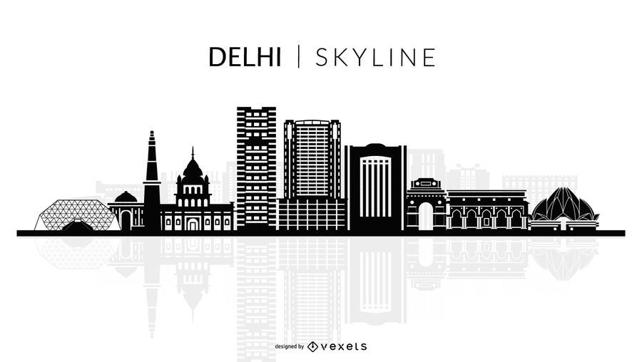 Silhueta de horizonte de Delhi