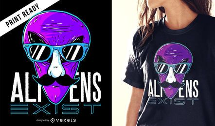 Aliens existieren T-Shirt-Design