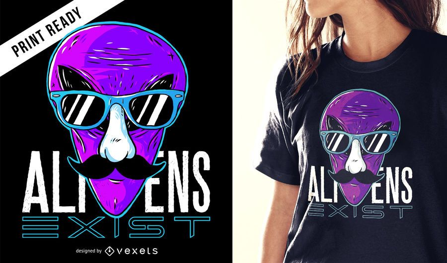 Aliens exist t-shirt design
