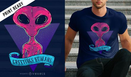 Greetings humans design de t-shirt