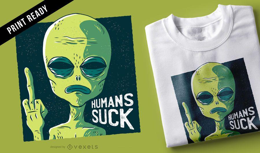 Los humanos apestan diseño de camiseta