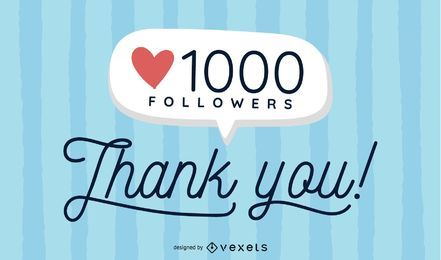 Flat 1000 Seguidores social media