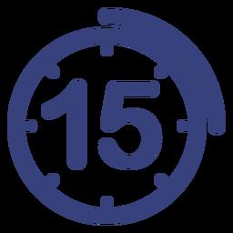 Ícone de relógio de 15 minutos