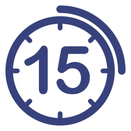 Icono de reloj de 15 minutos