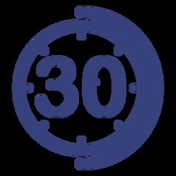 Icono de reloj de 30 minutos