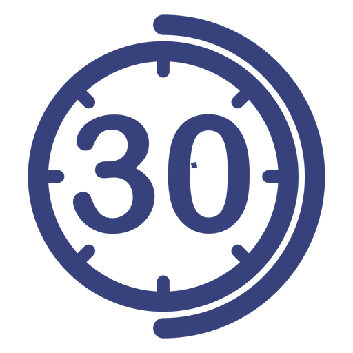 30 minutes clock icon