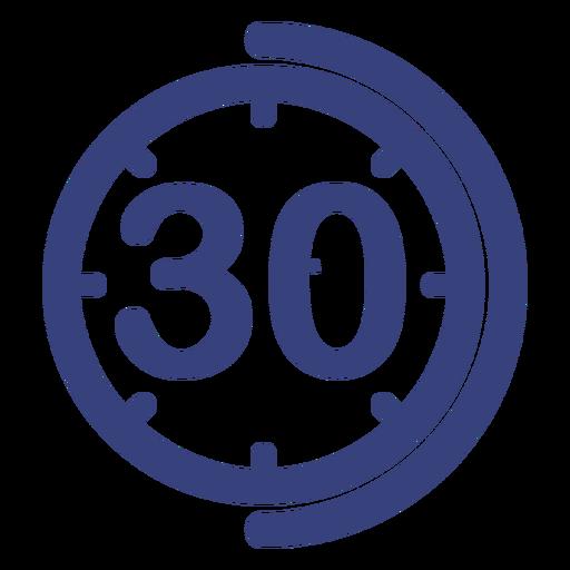 Icono de reloj de 30 minutos Transparent PNG