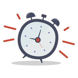 Alarm clock ringing doodle