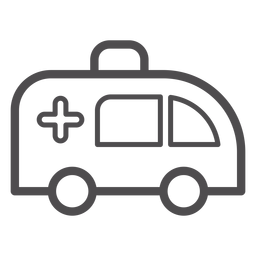 Ambulance stroke icon