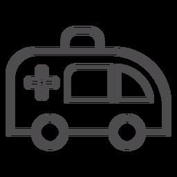 Icono de trazo de ambulancia