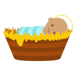 Baby jesus character illustration