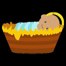 Ilustración de personaje de jesus bebé