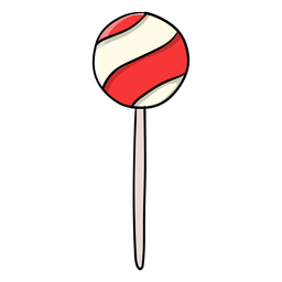 Ball lollipop cartoon