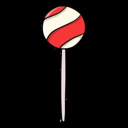 Ball lollipop cartoon