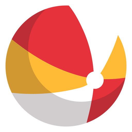 Beach ball icon playground Transparent PNG