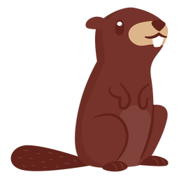 Beaver animal cartoon