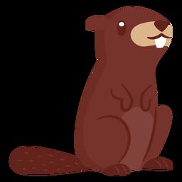 Castor animal dos desenhos animados