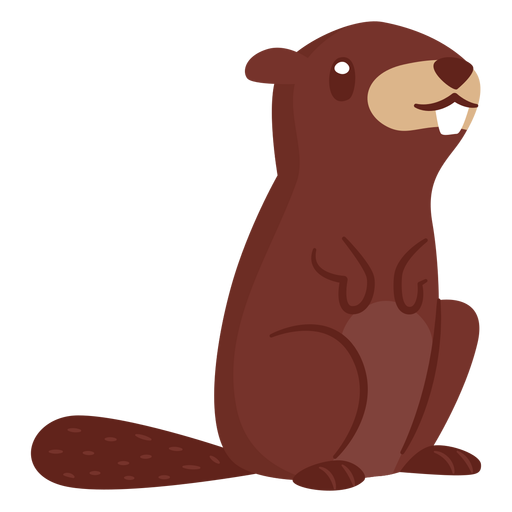 Beaver animal cartoon