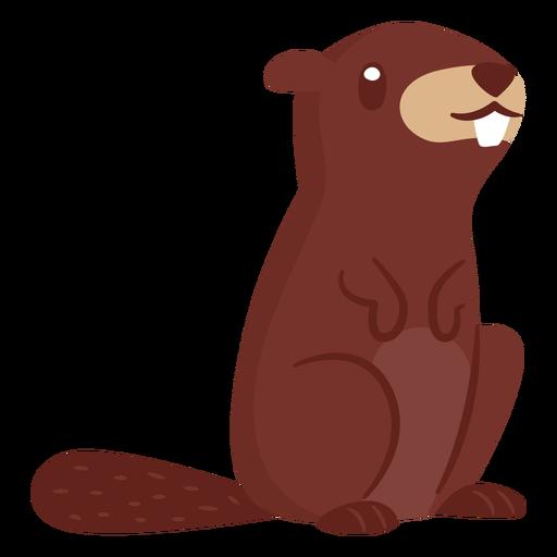 Dibujos animados de animales castor Transparent PNG