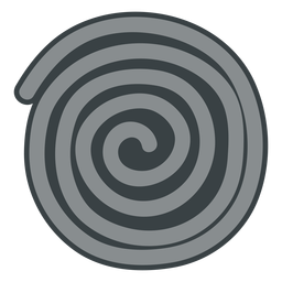 Black licorice wheel icon