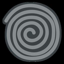 Schwarze Lakritz-Rad-Symbol