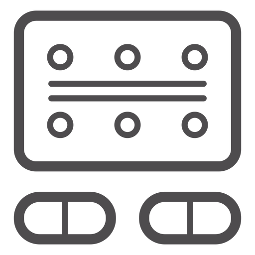 Blister pack stroke icon Transparent PNG