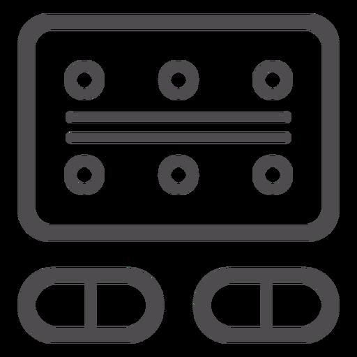 Blister pack stroke icon