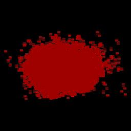 Salpicadura de sangre plana icono