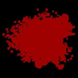 Blut spritzt flach