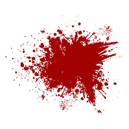 Blood splatter flat Transparent PNG