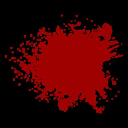 Blood splatter flat