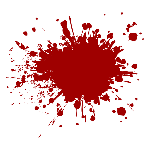 Blood splatter icon Transparent PNG