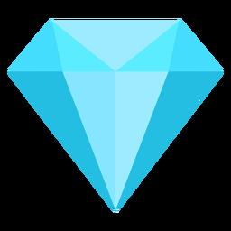 Flache Ikone des blauen Diamanten