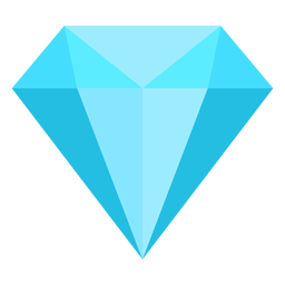 Icono plano de diamante azul