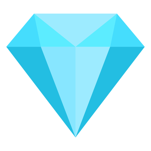 Blue diamond flat icon Transparent PNG