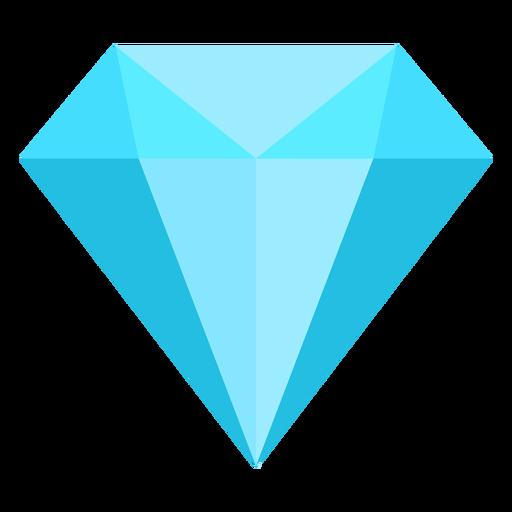 Icono plano de diamante azul Transparent PNG