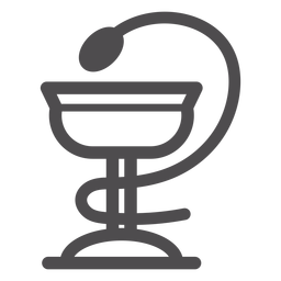 Tazón de icono de trazo de higieia