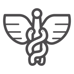 Caduceus stroke icon
