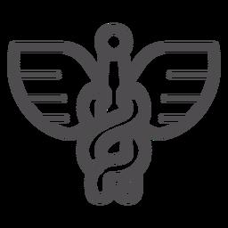 Icono de trazo de Caduceus