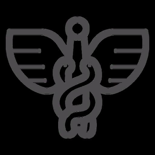 Caduceus-Strich-Symbol Transparent PNG